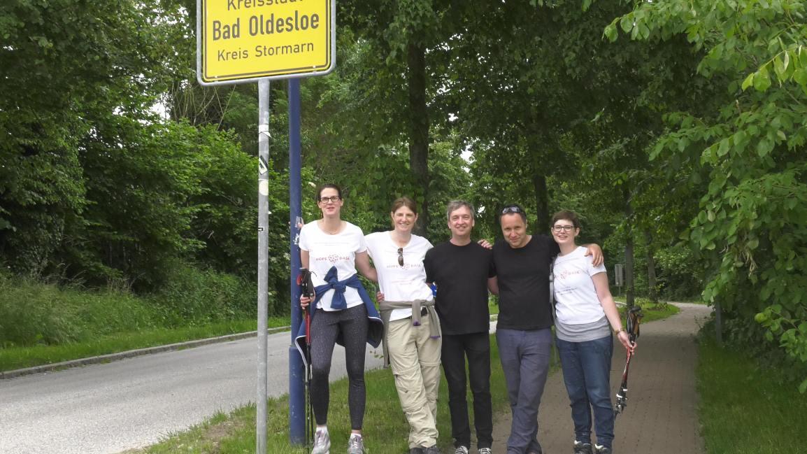 """Spendenwanderung """"Wir gehen an unsere Grenzen"""":  Hamburg – Travemünde, Teil 1 am 10. Juni2017"""