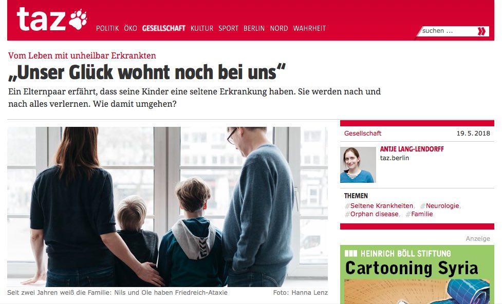 """Vom Leben mit unheilbar Erkrankten: """"Unser Glück wohnt noch bei uns"""" Autorin: AntjeLang-Lendorff"""